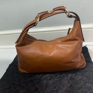 Vintage Brown Leather Gucci Bag